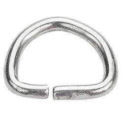Półkółka kaletnicze do torebki szelek kombinezonu paska 10 mm srebrne 100 szt.