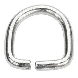 Półkółka kaletnicze do torebki szelek kombinezonu paska 15 mm srebrne 100 szt.
