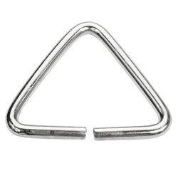Trójkąty kaletnicze do torebki szelek kombinezonu paska 41 mm srebrne 100 szt.